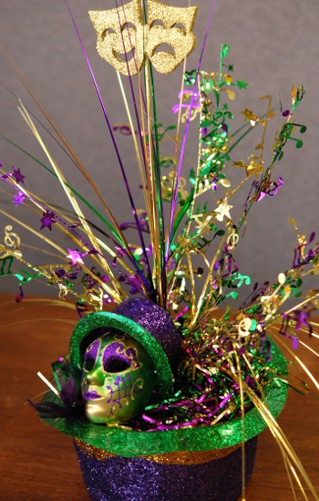Easy diy mardi gras centerpieces heather roberts