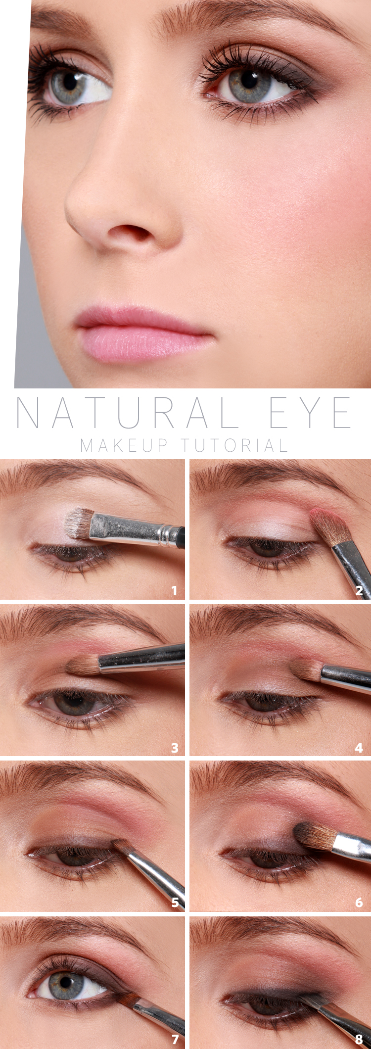 How to apply eyeshadow and eye makeup like a boss tips tricks it comes off as fresh like you arent even wearing makeup at all i love this tutorial from lulus blog which you can find here natural baditri Images